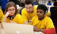 Apple offers free summer workshops for kids aged 8-12, and field trips for teachers and students