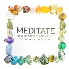 ✨MEDITATE because some questions can't be answered by Google✨#wisewords #wisewordswednesday #meditateeverydamnday