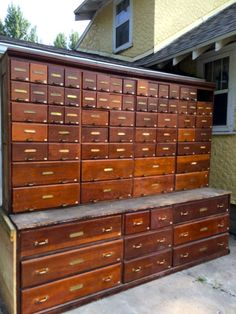Flat file cabinet antique wood art plan map blueprint files by warren 1920s hardware cabinet 9 feet tall and 10 feet wide was first used malvernweather Gallery