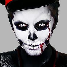 Create this fierce skull makeup for Halloween with these products used. Watch the video for the full detailed tutorial