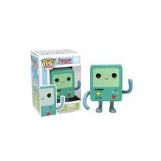 Figura Pop! Television - Hora de Aventuras: BMO BMO (también conocido como Beemo) es uno de los personajes principales de Hora de Aventuras. Es el sistema de vídeojuegos multifuncional (o bien, una consola o computadora de videojuegos portátil) de Finn y Jake.