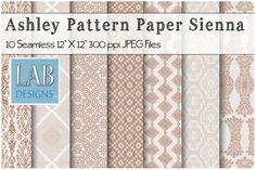 10 Sienna Seamless Pattern Textures by Lab Designs on @creativemarket