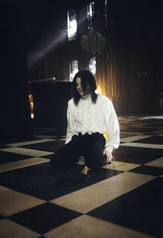 Singer/Songwriter Michael Jackson on the set of his music video 'Ghosts' cowritten by Stephen King in 1996