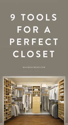Organize your closet with these perfect tools