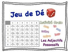 French Possessive Adjectives Speaking Activity for Small Group This fun and engaging speaking activity is a great opportunity for students to practice Possessive Adjectives.  It requires very little preparation time.Includes these possessive adjective forms: mon/ma/mes, ton/ta/tes, son/sa/ses, notre/nos, votre/vos, leur/leursSet-Up and Play:Students can do this activity in groups of 2 or 3.