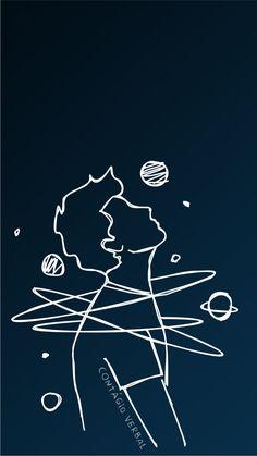 contágio verbal Black Background Wallpaper, Dark Wallpaper, Galaxy Wallpaper, Outline Drawings, Art Drawings Sketches, Easy Drawings, Phone Wallpaper Images, Cartoon Wallpaper, Black Aesthetic Wallpaper