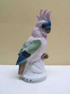 Antique Czech Porcelain Cockatoo Parrot Bird Perfume Lamp Night Light | eBay