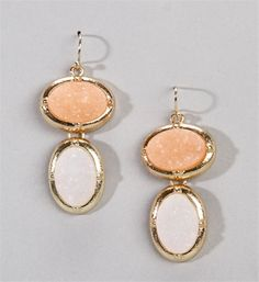 Oval Stone Boutique Earrings