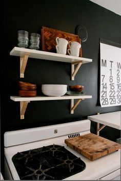 3 Ways to Go Big on Style in Your Tiny Kitchen. If you're looking for decor ideas for decorating and organizing your kitchen, you've come to the right place! Here are some ideas about paint color, shelving, and art!