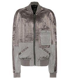 ¡Cómpralo ya!. Vision satin bomber jacket. Vision brown satin bomber jacket by Haider Ackermann , chaquetabomber, bómber, bombers, bomberjacke, chamarrabomber, vestebomber, giubbottobombber, bomber. Chaqueta bomber  de mujer color gris de HAIDER ACKERMANN.