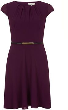 Billie & Blossom Billie and Blossom Damson chiffon belted dress on shopstyle.co.uk