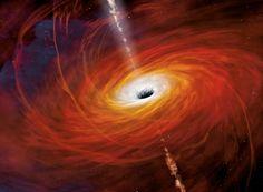 Des gaz surchauffés tourbillonnent autour de Sagittarius A*, le trou noir au centre de notre galaxie. © Mark A. Garlick