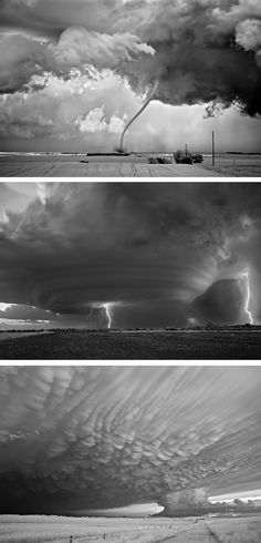 Ominous Storms Photographed in Black and White by Mitch Dobrowner
