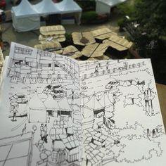 Told ya...it'll come... #urbansketchers #johorsketchers #jbhappening #johorbahru #johor #sketching #sketchbook #sketch #sketchbooks | por Hafizal_Nordin