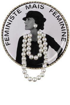 Chanel brooch, $450,