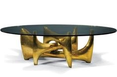 table_coffee table_gold_unique