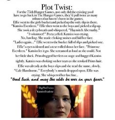 The Hunger Games plot twist. NOOOOOOOOOOOOOOOOOOOOOOOOOOOOOOOOOOOOOOOOOOOOOOOOOOOOO!!!!! NOOOOOOOOOOOOOOOOOOOOOOOOOOOOOOOOOOOOOOOOOOOOOOOOOOOOOOOOOOOOOOOO!!!!!!!!!!!!!!!!! NO WHO EVER MADE THIS ONE IS TRYING TO CRUSH MY HEART INTO A TRILLION PEICES!!!!!!!!!!!!!!!!!!!!!!!!!!!!