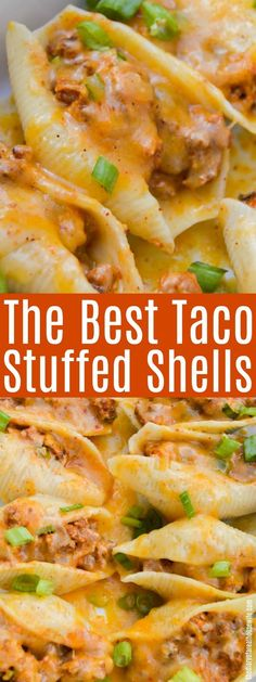 FOUND IT!! This was the recipe I tried last week and was amazing, Taco Stuffed Shell. #taco #stuffedshells #tacopasta