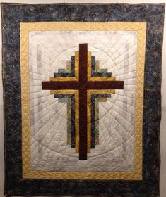 Cross for Comfort - Quilt Pictures, Patterns & Inspiration. Amish Quilts, Easy Quilts, Quilting For Beginners, Quilting Tutorials, Longarm Quilting, Machine Quilting, Celtic, Cross Quilt, Quilted Throw Blanket