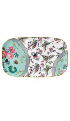 Wedgwood Harlequin Butterfly Bloom Sandwich Tray