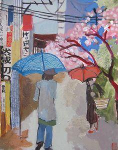 Next stop: Nishiki market 24cm x 30cm 2015 acrylics on paper