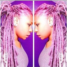 I should dyed my lock this color before I cut them. Love the pink...very fresh