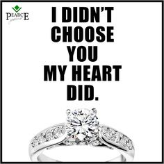"""Go with your heart.... #Engagementring #diamond #SayYes #MarryMe #Love"""""""