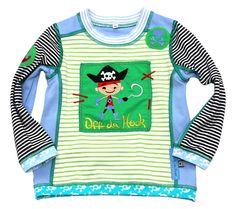 Langarmshirts - Langarmshirt 86/92 HILDE Pirat Shirt Jungenshirt - ein Designerstück von mynata bei DaWanda