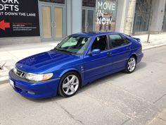 My ideal 2000 Saab Viggen; Lighting Blue, 4door hatch, 3on3 Wheels... Perfect!!