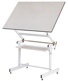 Mesa de dibujo de doble articulación, con inclinación y elevación del tablero
