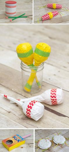 Having a music party and need ideas for musical instrument crafts? Then checkout these Cinco De Mayo inspired music crafts for kids. Super fun AND easy! Plastic Spoon Crafts, Plastic Spoons, Diy For Kids, Crafts For Kids, Arts And Crafts, Diy Crafts, Instrument Craft, Homemade Musical Instruments, Puppet Crafts