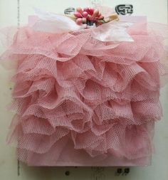 Your place to buy and sell all things handmade Ruffle Skirt, Ruffle Trim, Ruffles, Tulle Tutu, Pink Tulle, Vintage Roses, Vintage Pink, Paper Cones, Crepe Paper