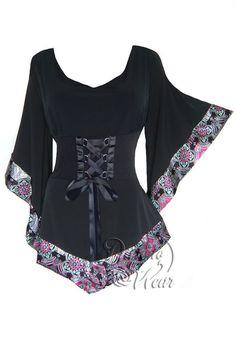 Dare To Wear Victorian Gothic Women's Plus Size Treasure Corset Top in Moroccan Pink