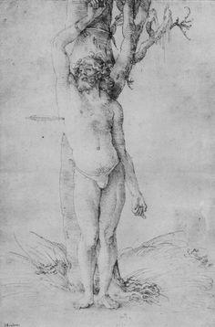Baldung Grien, Hans: Hl. Sebastian [1] c.1510 Hans Baldung Grien, Student Gifts, 16th Century, Printmaking, Mythology, Renaissance, Tapestry, Portrait, St Sebastian