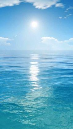 Ocean or Sea Sea And Ocean, Ocean Beach, Ocean Waves, Sky Sea, Image Nature, Photos Voyages, Jolie Photo, Beach Scenes, Ocean Scenes