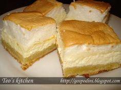 Prajitura cu branza dulce si spuma de ou (Prajitura Neli) - Retete culinare by Teo's Kitchen
