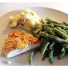 Dijon mustard and Parmesan cheese flavor this oven-fried chicken. Dijon Chicken, Mustard Chicken, Fried Chicken, Great Recipes, Dinner Recipes, Favorite Recipes, Turkey Recipes, Chicken Recipes, Carb Free Diet