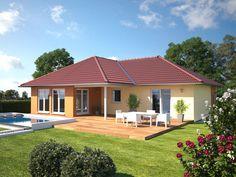 Top Star 128 Bungalow Gartenseite --> Zahlreiche Bungalow Wohnideen modern inszeniert. Die komplette Bildergalerie gibt es unter http://www.hanlo.de