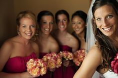 Love the bride and bridesmaids selfie lol this is totally me