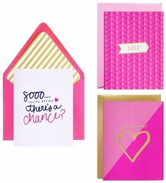 meant to be sent Heart Notecards 3 ct, Multi-Colored Stationery Set, Personalized Stationery, Note Cards, Thank You Cards, Heart Cards, Coordinating Colors, Heart Patterns, Folded Cards, Party Supplies