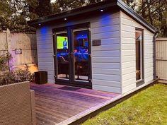 Backyard Office, Backyard Bar, Backyard Sheds, Backyard Patio Designs, Outdoor Garden Bar, Bar Shed, Outside Bars, Home Bar Designs, Backyard Makeover