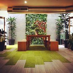 """41 Likes, 3 Comments - Morgan (@morganfurniture) on Instagram: """"Tranquility zone @interface #Clerkenwell #showroom #flooring #livingwall #nature #water #wellbeing…"""""""