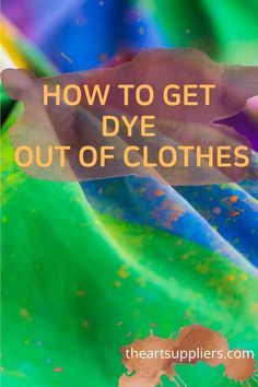 How to get dye out of clothes  How to get red dye out of clothes  Cleaning clothes with vinegar