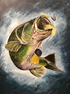 Gone Fishing Door Hanger - - Bass Fishing Pictures, Gone Fishing, Fishing Tackle, Fishing Reels, Fishing Lures, Fish Jumps, Fish Artwork, Fish Drawings, Fish Crafts