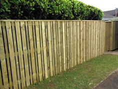 Hit and miss fencing, ideal for front and back gardens. This particular fence is 1.8m high and has alternating boards of 100mm and 50mm width.