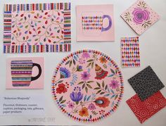 designed by Christine Graf, contact Shamrock Licensing, Jodi Beckett, All Design, Coasters, Folk, Paper, Popular, Drink Coasters, Fork, Folk Music, People