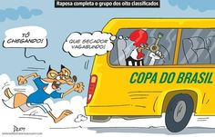Charge do Dum (Zona do Agrião) sobre a classificação do Cruzeiro para as quartas de final da Copa do Brasil (02/06/2017) #Charge #Recessão #Crise #Economia #Política #Temer #HojeEmDia