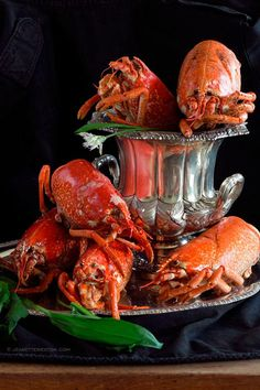 Lobsters that have been looted. No tails, no claws. Ready for bisque. Decided they were beautiful still... jeanetteweston.com photography