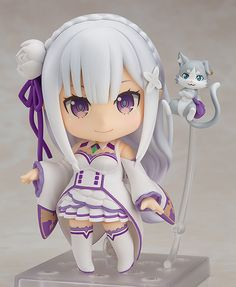 Emilia-tan is such an angel!From the anime series Re:ZERO -Starting Life in Another World- comes a Nendoroid of the half-elf heroine, Emilia! Her characteristic outfit has been faithfully converted into cute Nendoroid size, and she comes with three face p Kawaii Cute, Kawaii Anime, Kawaii Doll, Kawaii Chibi, Kawaii Stuff, Zero Wallpaper, Angry Expression, A Different World, Tokyo Otaku Mode
