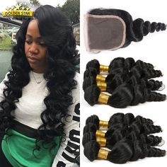 Find More Human Hair Weft with Closure Information about 7A Peruvian Virgin Hair…